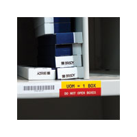 """Brady M-47-483 Ultra Aggressive Adhesive Polyester, BK on WT, 1.000, 0.500, 480 Labels"""