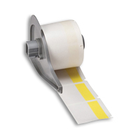 """Brady M71-32-427-YL BMP71 Self-Laminating Labels, 1.5"""", 1.5"""", 0.5"""""""