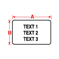 """Brady PTL-78-427-AW TLS2200 Flexible Vinyl Labels, (A) 1.9"""" x (B) 1"""""""