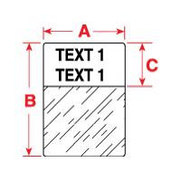 """Brady PTL-19-427-XX TLS2200 Self-Laminating Labels, (A) 1"""" x (B) 1"""" x (C) 0.375"""""""