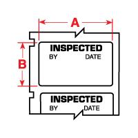 """Brady PTL-30-423-INSP TLS2200 Permanent Polyester Labels, (A) 1.5"""" x (B) 0.75"""""""