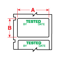 """Brady PTL-30-423-TEST TLS2200 Permanent Polyester Labels, (A) 1.5"""" x (B) 0.75"""""""