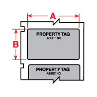 """Brady PTL-35-422-PROP TLS2200 Permanent Polyester Label, (A) 1.63"""" x (B) 0.75"""""""