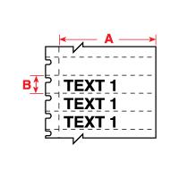 """""""Brady PTL-40-412 TLS2200 Polypropylene Labels, (A) 1.938"""""""" x (B) 0.375"""""""""""""""