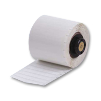 """Brady PTL-81-499 TLS2200 Nylon Cloth Labels, (A) 1.9"""" x (B) 0.25"""""""