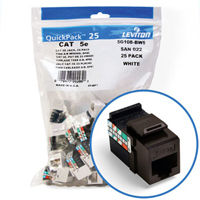 """""""Leviton 5G108-BB5 GigaMax 5e Connector Quickpack (Brown), CAT 5e, 25-pack"""""""