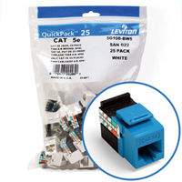 """Leviton 5G108-BL5 GigaMax 5e Connector Quickpack (Blue), CAT 5e, 25-pack"""