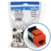 """Leviton 5G108-BO5 GigaMax 5e Connector Quickpack (Orange), CAT 5e, 25-pack"""