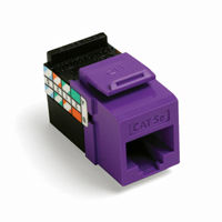 Leviton 5G108-RP5 category 5 jack Purple