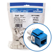 """Leviton 5G110-BL5 GigaMax 5e+ Connector Quickpack (Blue), CAT 5e, 25-pack"""