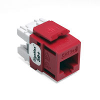 Leviton 5G110-RC5 GigaMax 5e+ QuickPort Snap-In Connectors (Crimson)