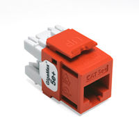 Leviton 5G110-RO5 GigaMax 5e+ QuickPort Snap-In Connectors (Orange)