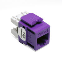 Leviton 5G110-RP5 GigaMax 5e+ QuickPort Snap-In Connectors (Purple)
