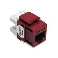 Leviton 5G110-RR5 GigaMax 5e+ QuickPort Snap-In Connectors (Red)