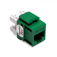 Leviton 5G110-RV5 GigaMax 5e+ QuickPort Snap-In Connectors (Green)