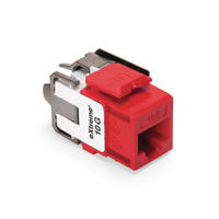Leviton 6110G-RC6 eXtreme 10G Channel-Rated Connector (Crimson)