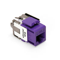 Leviton 6110G-RP6 eXtreme 10G Channel-Rated Connector (Purple)