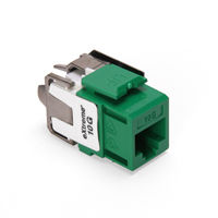 Leviton 6110G-RV6 eXtreme 10G Channel-Rated Connector (Green)