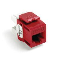Leviton 61110-RC6 6+ QuickPort Category 6 Jack (Crimson)