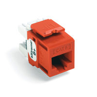 Leviton 61110-RO6 6+ QuickPort Category 6 Jack (Orange)