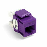Leviton 61110-RP6 6+ QuickPort Category 6 Jack (Purple)