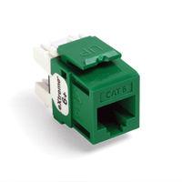Leviton 61110-RV6 6+ QuickPort Category 6 Jack (Green)