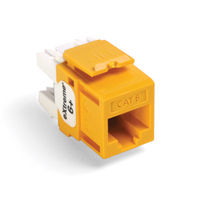 Leviton 61110-RY6 6+ QuickPort Category 6 Jack (Yellow)