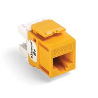 Leviton 61110-RY6 6+ QuickPort Category 6 Jack (Yellow)