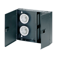 """Panduit FWME2 Holds up to 2 QuickNet Cassettes, FAP, or FMP panels: 12.00""""W x 10.18""""H x 2.32""""D"""