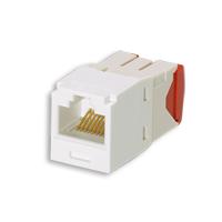 """Panduit CJ5E88TGAW Mini-Com Module, Cat 5e, UTP, 8 pos 8 wire, Universal, Arctic White, TG Style"""