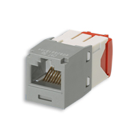 """Panduit CJ5E88TGIG Mini-Com Module, Cat 5e, UTP, 8 pos 8 wire, Intl Gray, TG Style"""