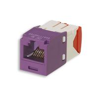 """""""Panduit CJ5E88TGVL Mini-Com Module, Cat 5e, UTP, 8 pos 8 wire, Universal, Violet, TG Style"""""""