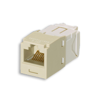 """Panduit CJ688TGEI Mini-Com Module, Cat 6, UTP, 8 pos 8 wire, Universal, Electric Ivory, TG Style"""