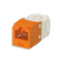 """Panduit CJ688TGOR Mini-Com Module, Cat 6, UTP, 8 pos 8 wire, Universal, Orange, TG Style"""