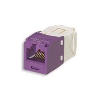 """Panduit CJ688TGVL Mini-Com Module, Cat 6, UTP, 8 pos 8 wire, Universal, Violet, TG Style"""