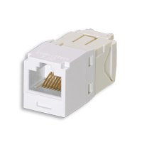 """Panduit CJ688TGWH Mini-Com Module, Cat 6, UTP, 8 pos 8 wire, Universal, White, TG Style"""