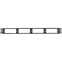 Panduit CFAPPBL1 Flat fiber patch panel. Holds up to four FAP or FMP adapter panels. 1 rack space
