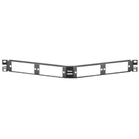 Panduit CFAPPBL1A Angled fiber patch panel. Holds up to four FAP or FMP adapter panels. 1 rack space