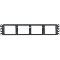 Panduit CFAPPBL2 Flat fiber patch panel. Holds up to eight FAP or FMP adapter panels. 2 rack spaces
