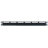 Panduit CPPKL6G24WBL 24-port CPPL24WBL patch panel with 24 CJ688TGBL jack modules.