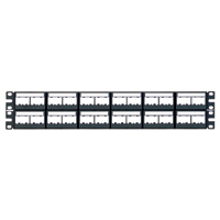 Panduit CPPL48WBLY 48-port patch panel with labels
