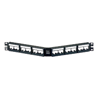 Panduit CPPLA24WBLY 24-port angled patch panel with labels
