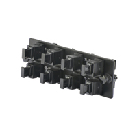 Panduit FAPH0812BLMPO Opticom MPO FAP loaded w/(8) key-up/key-up MPO fiber adapters; oriented horizontally