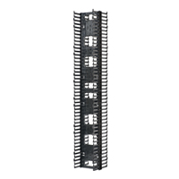 """Panduit NRV6* Dimensions: 80.4""""H x 6.7""""W x 13.8""""D 45 rack spaces"""
