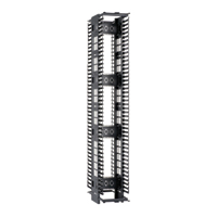 """Panduit PEV6* Dimensions: 83.5""""H x 6.0""""W x 28.1""""D 45 rack spaces"""