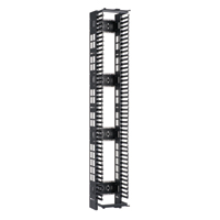 """Panduit PEVF8* Dimensions: 83.5""""H x 8.0""""W x 15.9""""D 45 rack spaces"""