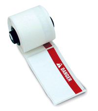 """Brady PTL-87-427 TLS2200 Self-Laminating Labels, (A) 1.75"""" x (B) 1"""" x (C) 0.375"""""""