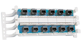 """Siemon S110AB5-100JPT 12 Port, T568A Modular wall mount block"""