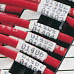 """Brady 2HX-375-2-WT-SC Wire Marking Sleeves, 250, 8 to 4, 0.188 - 0.320, 0.375, 0.189, 0.025 ? 0.003, 2.000 Labels"""