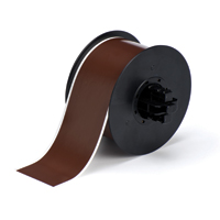 """Brady B30C-2250-569-BR Low-Halide Polyester, Brown, 2.250, 100ft., 1 roll (cont.) Labels"""